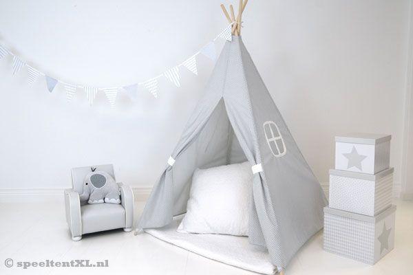 Tipi Tent Kinderkamer : Jabadabado tipi tent grijs speeltentxl.nl
