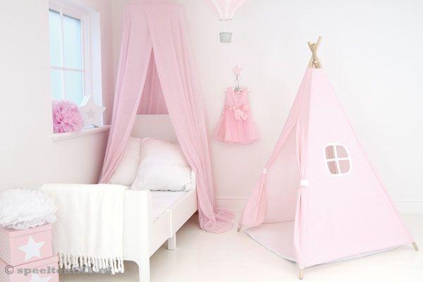 Tipi Tent Kinderkamer : Jabadabado tipi tent roze speeltentxl