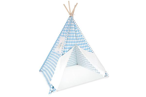 Fabulous Tipi Speeltent met vloerkleed en raam blauw #IV55